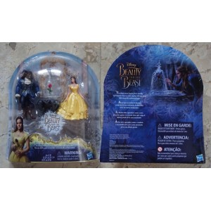 Beauty And The Beast toys - Enchanted Rose Belle & The Beast / Disney